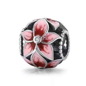 925 Sterling Silver Blooming Flower Charm
